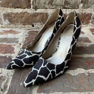 Giraffe Patterned High Heels - Qupid